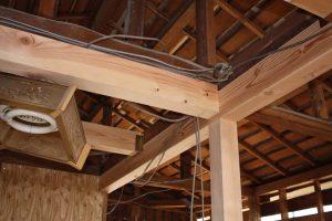 平屋から2階へ改築リフォーム施工中2-高槻