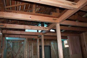 平屋から2階へ改築リフォーム施工中3-高槻