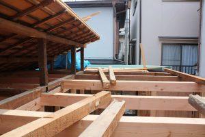 平屋から2階へ改築リフォーム施工中4-高槻
