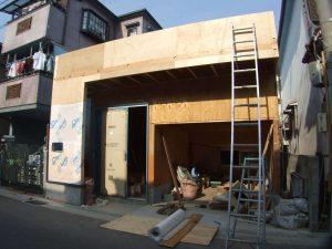 平屋から2階へ改築リフォーム施工中5-高槻