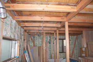 平屋から2階へ改築リフォーム施工中7-高槻