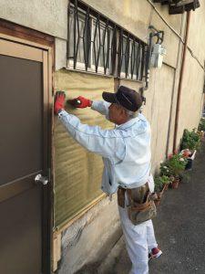 外壁修理リフォーム中2-茨木市