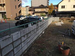 ブロック塀リフォーム中2