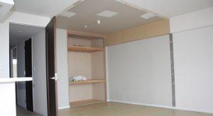 茨木市和室の間仕切壁-施工中