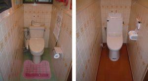トイレの交換リフォーム-高槻