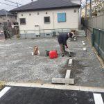 """駐車場には砕石かアスファルト。-茨木市""""/"""