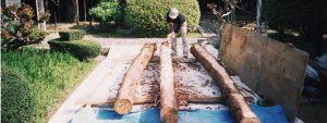 神社社屋の木材プレカット
