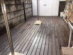 腐食したウッドデッキの修繕-茨木