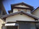 戸建の庇・破風板塗装-高槻